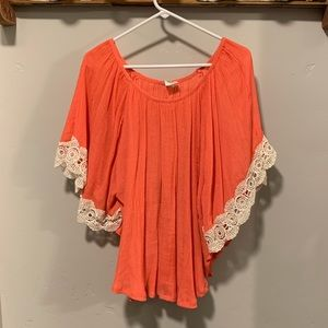Wrangler Top with Lace Detail